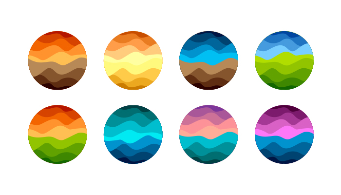 no gradients in logos