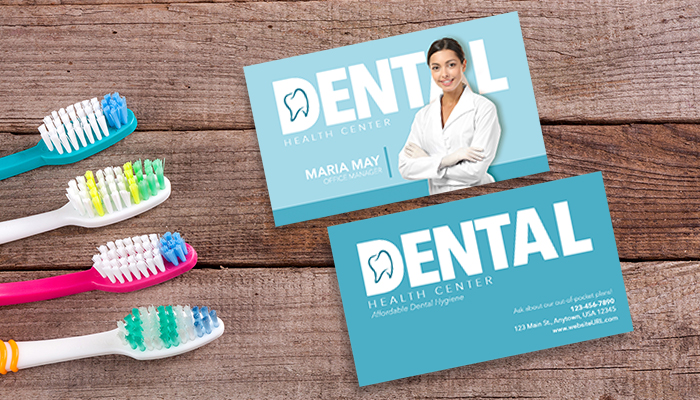 Dental Office Manager Business Card