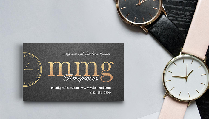 GotPrint Elegant Watches Business Cards