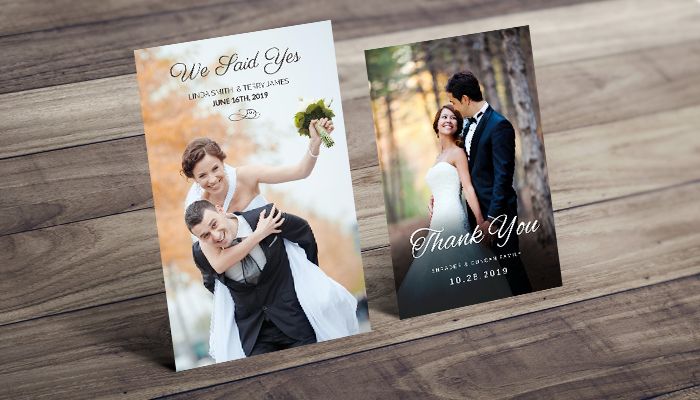 GotPrint Post-Wedding Stationery