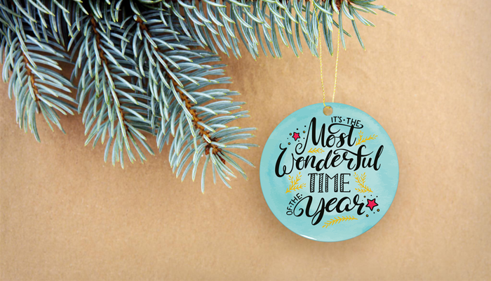 GotPrint Holiday Ornament Card