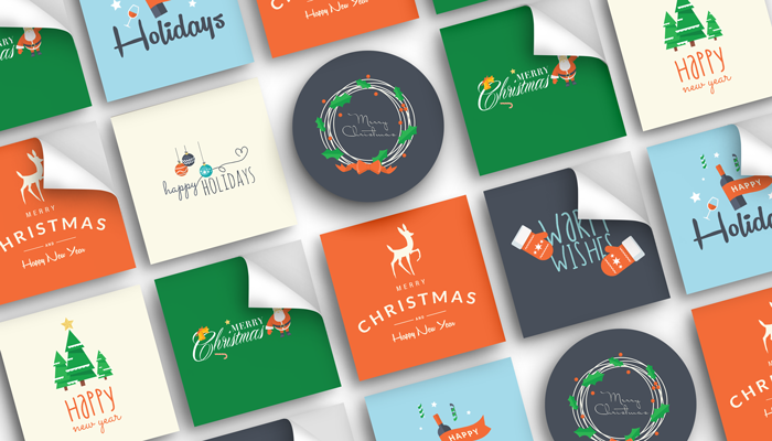 GotPrint Holiday Stickers
