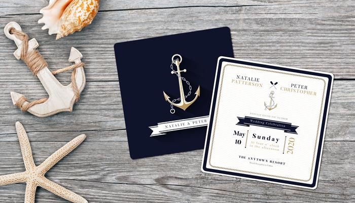 GotPrint Nautical Wedding Invitations