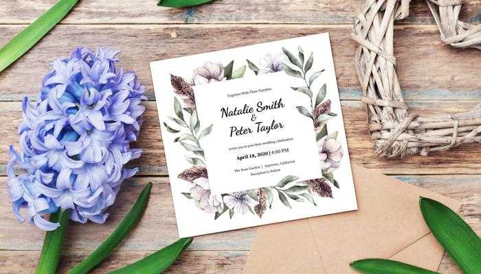GotPrint Illustrated Wedding Invitations