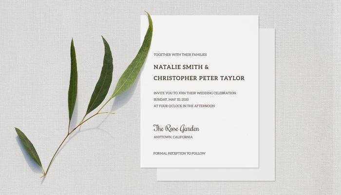 GotPrint Simple Wedding Invitations