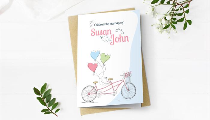 GotPrint Whimsical Wedding Invitations