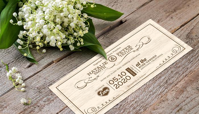 GotPrint Rustic Wedding Invitations