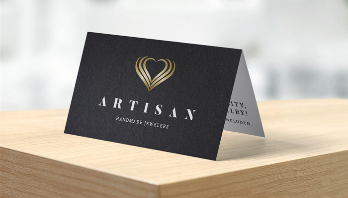 GotPrint Folded Black Business Cards