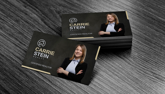 GotPrint Black Photo Business Cards