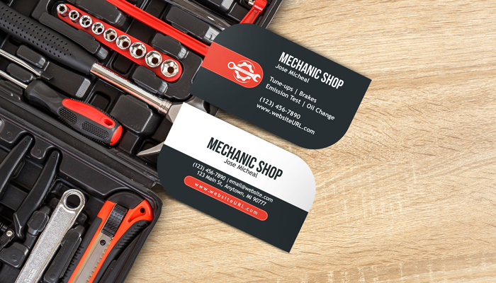 GotPrint Mechanic Business Cards
